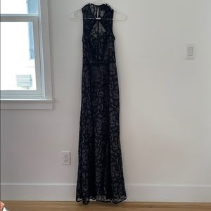 H&M lace dress with slip and back cutout